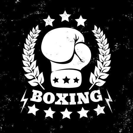 la vendimia del vector para el boxeo