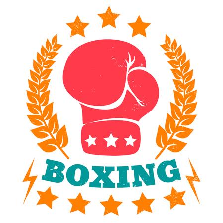 guantes: la vendimia del vector para el boxeo Vectores