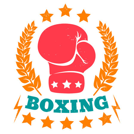 boxing gloves: Vector vintage for boxing