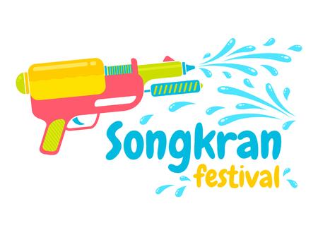 pistolas: Vector de la insignia para el festival de Songkran en Tailandia Vectores