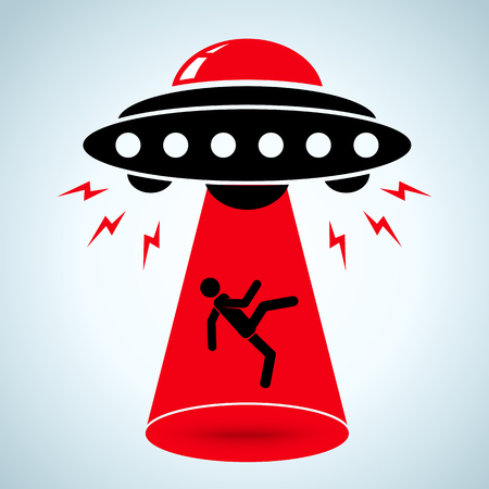 abduction: Vector illustration of an alien abduction