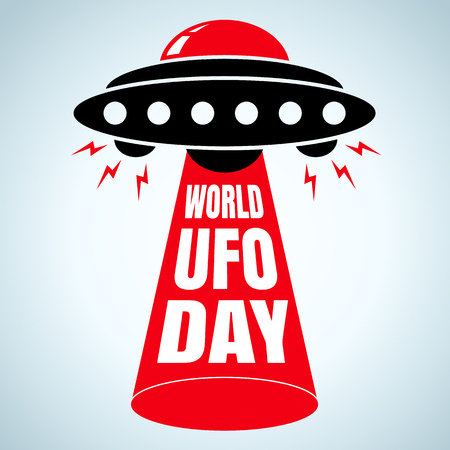 Vector illustration for world UFO day