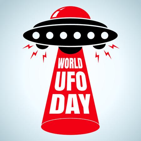 Vector illustration for world UFO day
