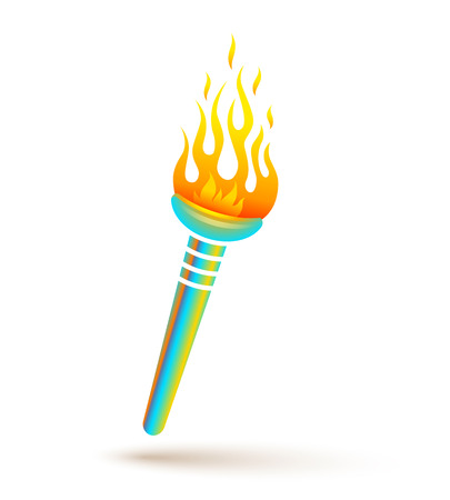 olimpic: Vector icon of torch