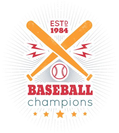 Sport vectoriel vintage. Les champions de baseball