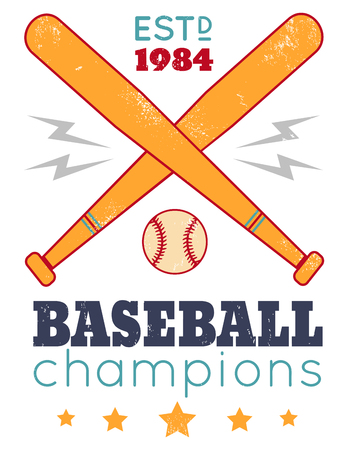 championship: Vintage poster for baseball on grunge background