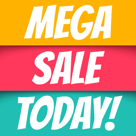 advertisement: Mega sale. Banners for big sale.