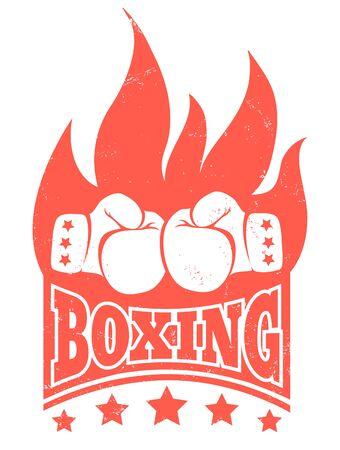 Vintage logo for boxing.