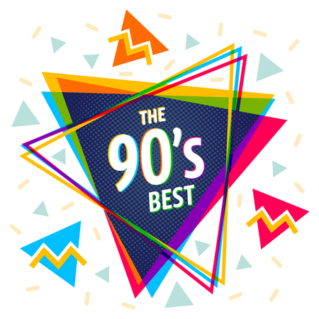 Vector vintage pyramid in 90's style. Vintage vector poster with pyramids.