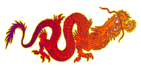 speculative: Vector illustration of a chinese dragon. Colorful chinese dragon.