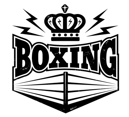 Vintage symbool voor boksring.