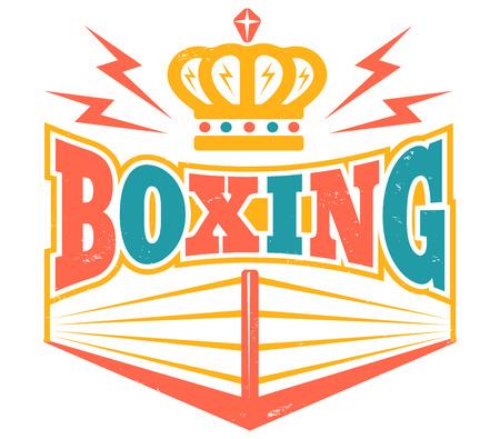 Vintage symbol for boxing ring.