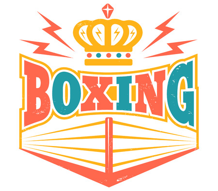 Vintage symbol for boxing ring.