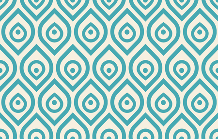 Vector seamless vintage pattern with stylized peacock feathers.