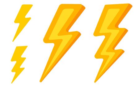 Vector set lightning icons. Vector illustration of ightning emblems. Ilustracje wektorowe