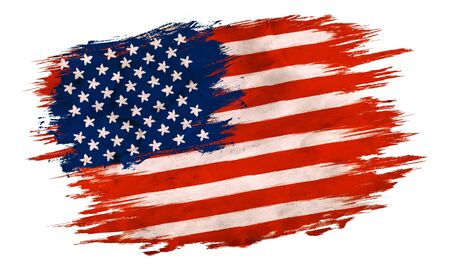 Vintage American flag. Vintage flag of USA for an independence day at 4 th july. Foto de archivo - 130571233