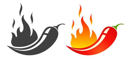 Hot chilli pepper. Vector emblems jalapeno or chilli peppers. Chili pepper.