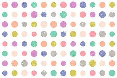 Vintage vector seamless pattern in retro style. Retro colorful pattern with grunge dots. Vintage vector texture in 60s style. Colorful dots.