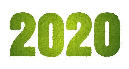 Vector soccer green field like 2020. 2020 green grass. Football Foto de archivo - 134809234