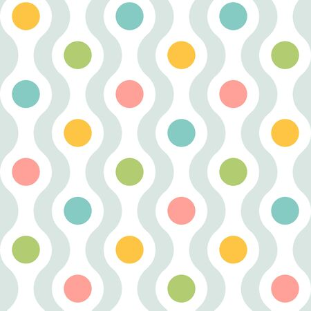 Vector vintage seamless abstract pattern. Vector pattern for holidays in retro style. Retro abstract texture.