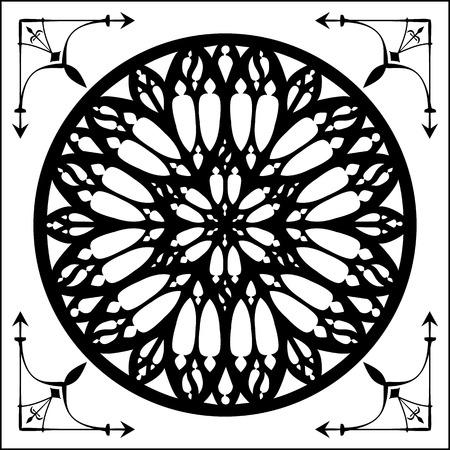 gothic architecture: Gothic rose, gothic architecture element