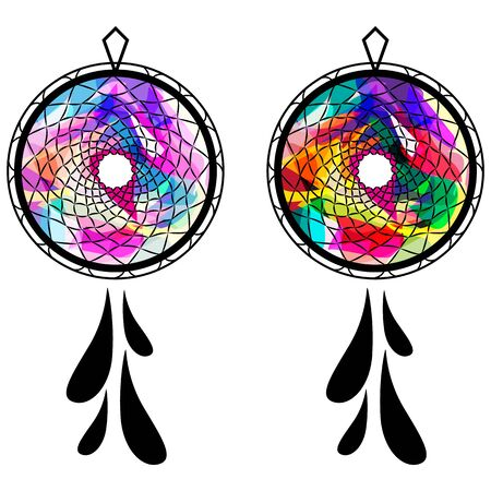 another: Dream catcher, abstract dream catcher, gate to another world Illustration