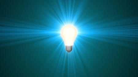 lamp ligh bulb shining in rays of light optical lens flares 3d rendering illustration background new natural lighting effect colorful bright 4k stock Stockfoto