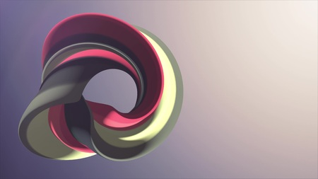 Soft colors curved rainbow donut marshmallow candy abstract shape 3D rendering illustration background new quality universal colorful joyful 4k stock image Stock Photo