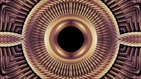 shiny ornamental metal chain kaleidoscope pattern illustration abstract background New universal cool nice joyful stock image