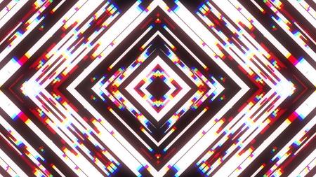 symmetrical shiny shape glitch interference screen illustration background new quality digital technology pattern colorful stock image