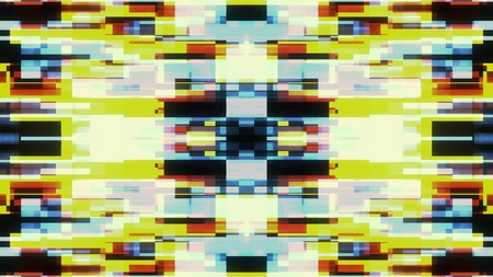 symmetrical shiny shape glitch interference screen illustration background new quality digital technology pattern colorful stock image