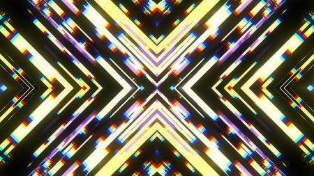 symmetrical shiny shape glitch interference screen illustration background new quality digital technology pattern colorful stock image .