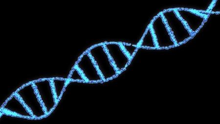Vector de stock (libre de regalías) sobre molécula de espiral de adn fondo de ilustración.