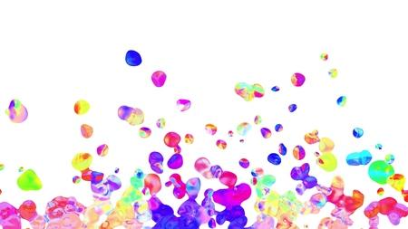 colorful splatter blot spreading turbulent abstract painting illustration background new unique quality art stylish joyful cool nice beautiful 4k stock image Stock Photo