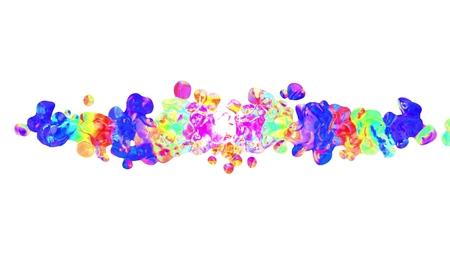 colorful splatter blot spreading turbulent abstract painting illustration background new unique quality art stylish joyful cool nice beautiful 4k stock image Reklamní fotografie