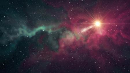 lone big star shine in soft nebula stars night sky illustration background new quality nature scenic cool colorful light stock image