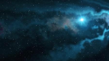 lone big star shine in soft nebula stars night sky illustration background new quality nature scenic cool colorful light stock image Foto de archivo