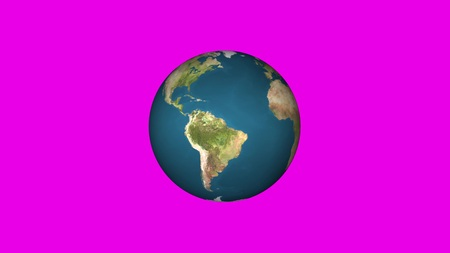 simple Earth globe planet model rotating seamless loop animation background loop New quality universal retro vintage colorful video