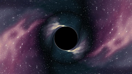 Black hole pulls in star space time funnel pit illustration background New quality universal science cool nice 4k stock image