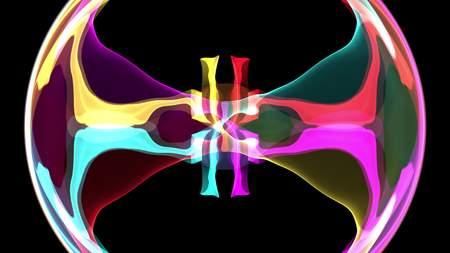 digital turbulent paint splash prism crystal soft abstract illustration background rainbow new unique quality colorful joyful stock image
