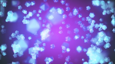 many random crystals in color space illustration background new quality universal colorful joyful cool stock image Stock Photo