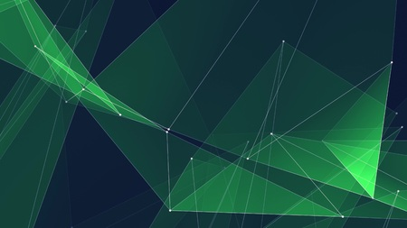 abstract polygon net connections cloud illustration background new quality technology colorful stock image Stock Photo