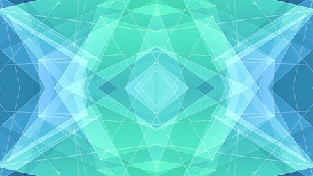 abstract symmetrical poligon shape net cloud illustration background new quality technology colorful stock image