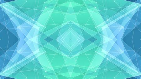 abstrakcyjny symetryczny kształt wielokąta netto chmura ilustracja tło nowa jakość technologia kolorowy obraz akcji