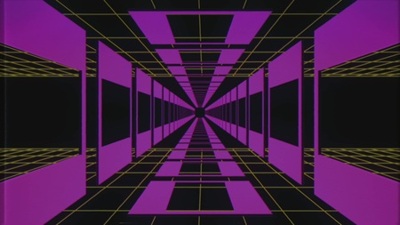 endless retro style cyber grid tunnel effect graphics illustration background new quality futuristic vintage cool nice beautiful stock image
