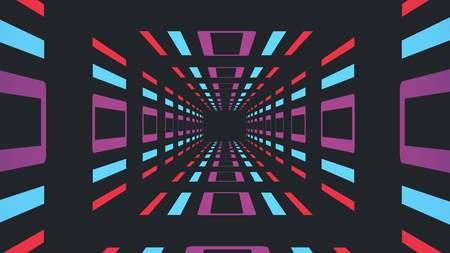 retro game style infinite tunnel illustration new vintage colorful joyful stock image