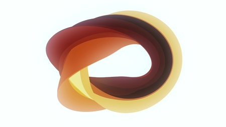 Soft colors curved donut candy abstract shape illustration background new quality universal colorful joyful stock image