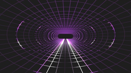 neon lights grid net cyber retro tunnel graphics illustration background new quality futuristic vintage style cool nice beautiful stock image