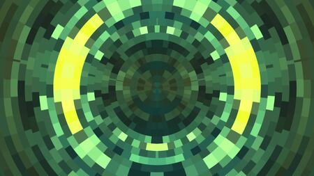 abstract colorful circle pixel block background illustration New quality universal technological colorful joyful dance music 版權商用圖片