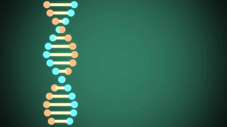 shiny DNA spiral molecule in space illustration background new quality beautiful natural health cool nice